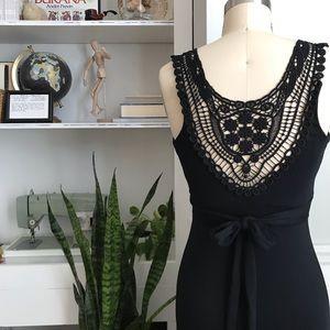Design History • Crochet Back Maxi Dress